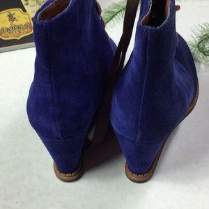 kate spade Shoes - Kate Spade Blue suede wedge